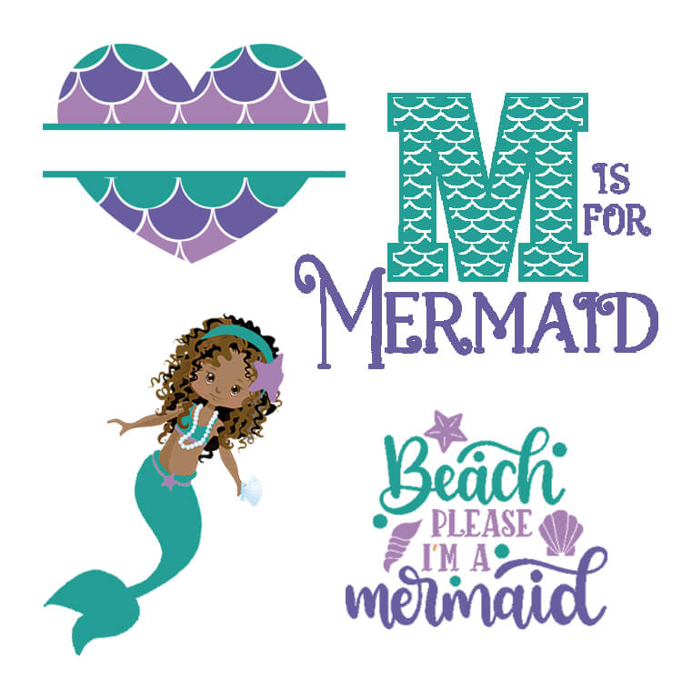Download Free Mermaid SVG Files, Fonts, and Graphics for Crafts and ...