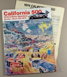 California 500 1974 Race Program