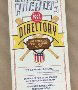 Baseball America's Baseball Directory 1994