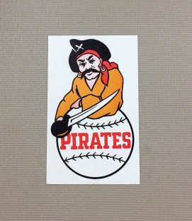 1940s Vintage Pittsburgh Pirates Decal