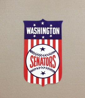 1940s Vintage Washington Senators Decal