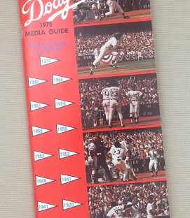 Los Angeles Dodgers 1975 Media Guide