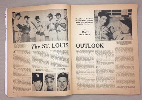 Baseball Magazine April 1952 Issue