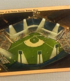 Vintage Braves Field Postcard circa 1948