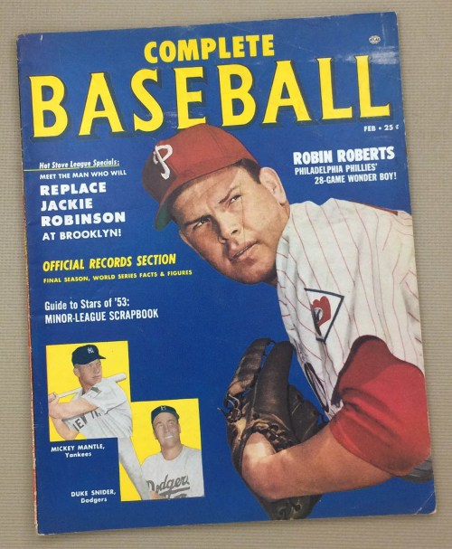 Complete Baseball February 1953 Issue