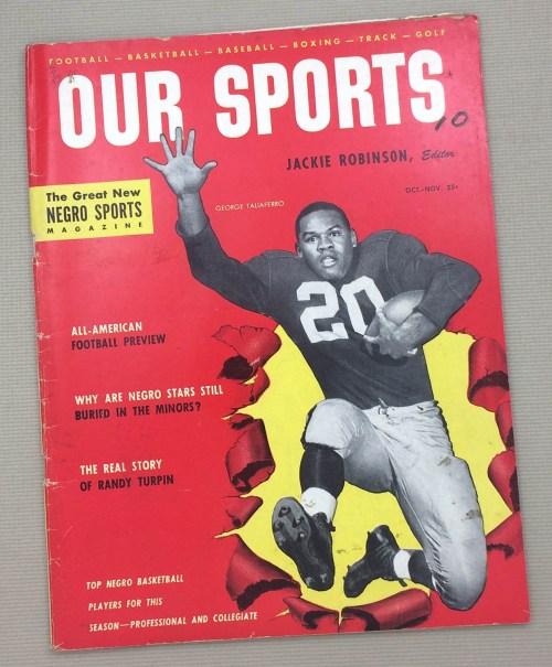 "Jackie Robinson's ""Our Sports"" Magazine Oct-Nov 1953"