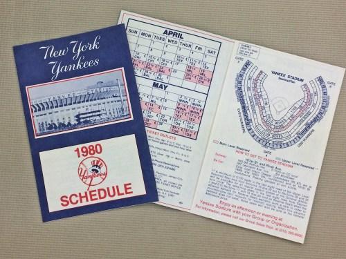 1980 New York Yankees Schedule