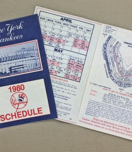 1980 New York Yankees Schedule