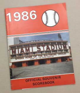 Orioles 1986 Pre Season Program