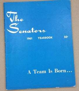 Washington Senators 1961 Yearbook