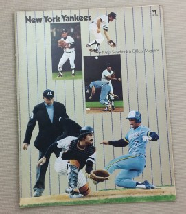New York Yankees 1980 Scorebook