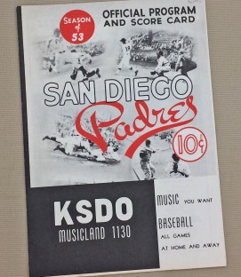 1953 San Diego Padres Program