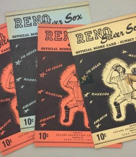 Reno Silver Sox 1948 Scorecard Set 2