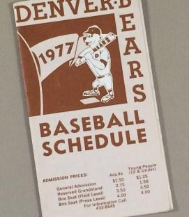 Denver Bears 1977 Schedule