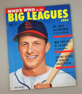 1953 DELL WHO'S WHO IN THE BIG LEAGUES Magazine