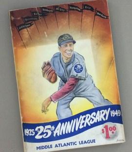 1949 Middle Atlantic League 25th Anniversary Baseball Guide Record Book