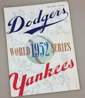 World Series 1952 Game Program