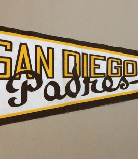 San Diego Padres Commemorative Inaugural Season Pennant