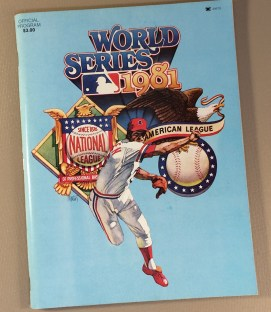 1981 World Series Game Program
