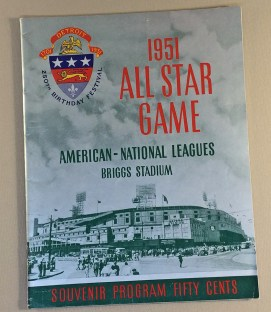 Baseball All Star Game 1951 Program