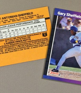 1989 Milwaukee Brewers Gary Sheffield Rookie Card (Donruss)