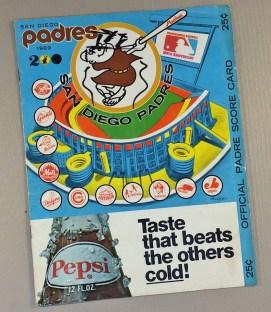 San Diego Padres 1969 Scorecard