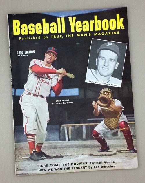 1952 BASEBALL YEARBOOK Magazine