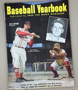 1952 BASEBALL YEARBOOK Magazine