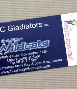 San Diego Wildcats Ticket