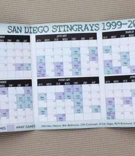 San Diego Stingrays 1999-2000 Schedule