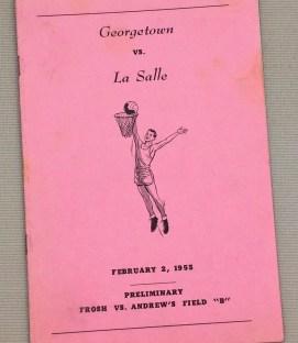 Georgetown - La Salle 1955 Basketball Program
