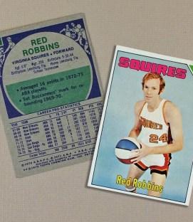 1975 Virginia Squires Red Robbins Collectors Card