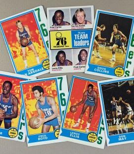 1974-75 Philadelphia 76ers Collectors Card Set