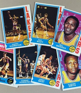 1974-75 Los Angeles Lakers Collectors Card Set
