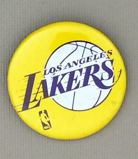 1981-82 Los Angeles Lakers World Champions Mini Button