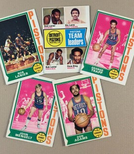 1974-75 Detroit Pistons Collectors Card Set