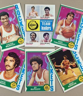 1974-75 Houston Rockets Collectors Card Set