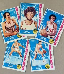 1974-75 Portland Trailblazers Collectors Card Set