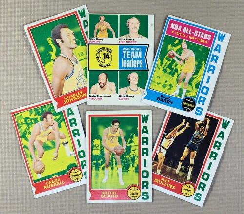 1974-75 Golden State Warriors Collectors Card Set