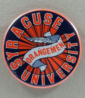 Syracuse University Orangemen Button