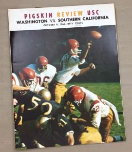 USC vs Washington 1966 Program
