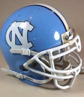 North Carolina Mini Football Helmet