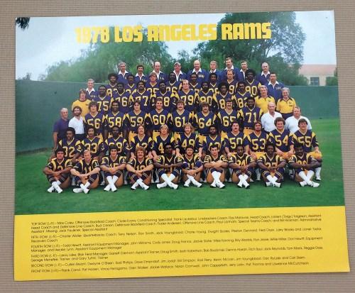 Los Angeles Rams 1978 Team Photo