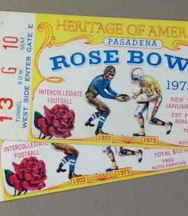 Rose Bowl 1975 Ticket Stubs