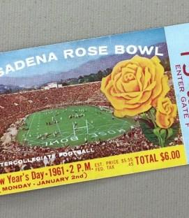 1961 Rose Bowl Ticket