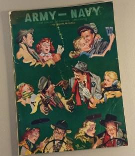 Army vs Navy Football 1955 Program