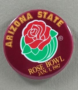 Arizona State 1987 Rose Bowl Button