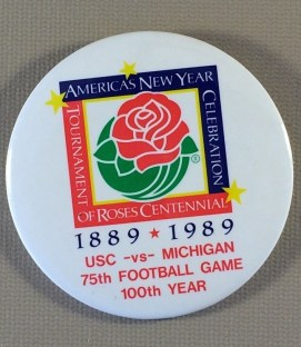 Rose Bowl Centennial Anniversary Button