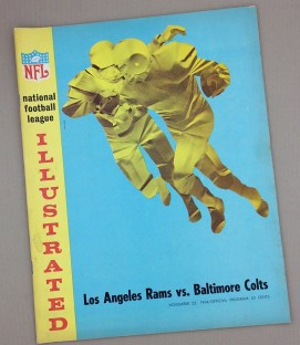 Los Angeles Rams Baltimore Colts 1964 Game Program