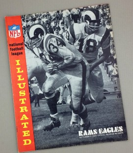 Los Angeles Rams Philadelphia Eagles 1965 Game Program